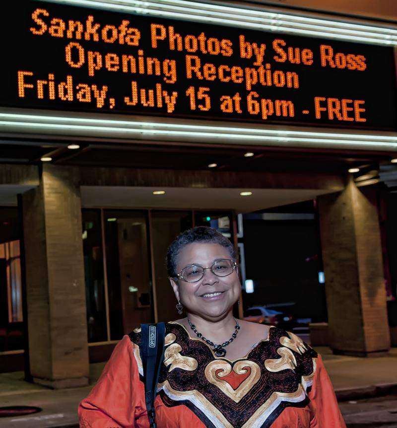 Sue Ross at Sankofa - photo by Eric Waters